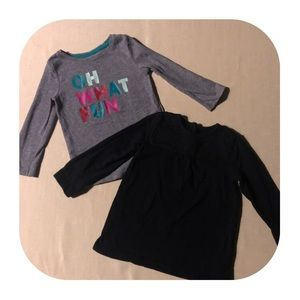 2 Long Sleeve Shirts Bundle Girls 18M